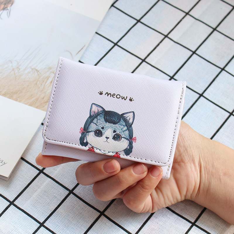 Cutesy Wallet with Cat Design for Feline-Lovers