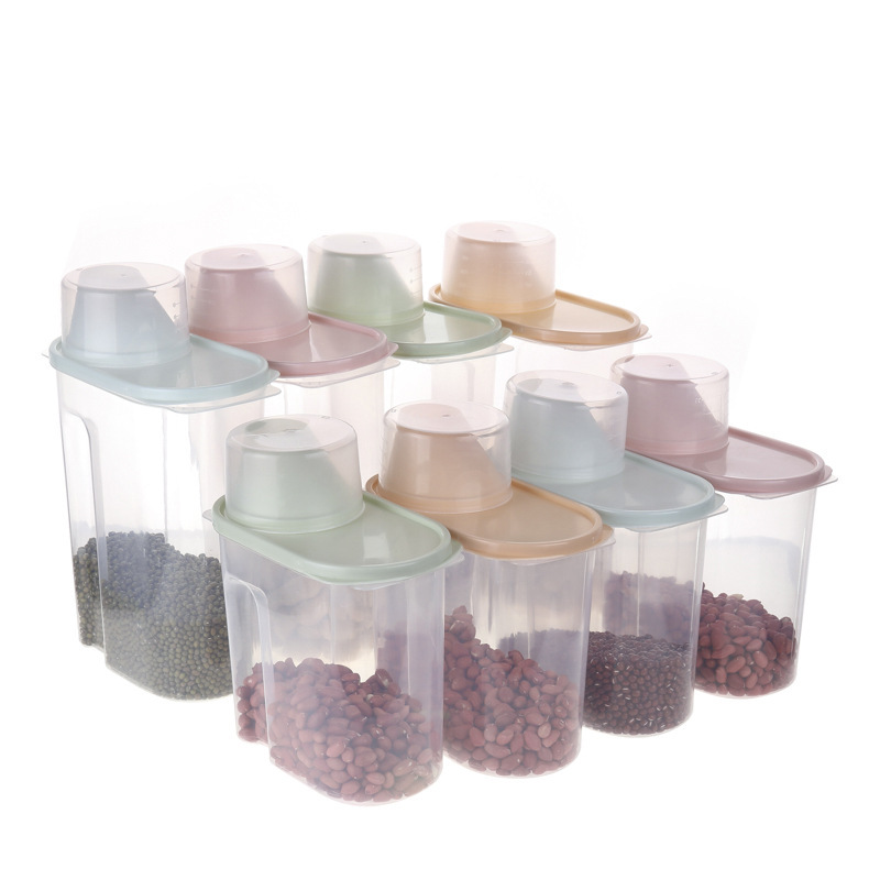 Simple Spout Storage Box for Keeping Dry Ingredients