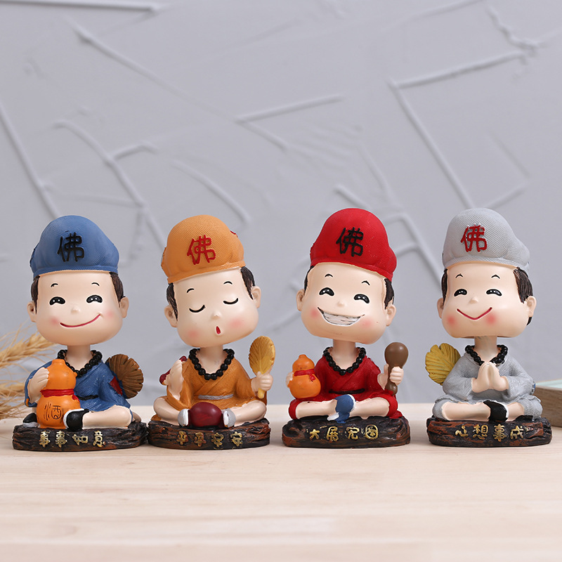 Little Chinese Boys Dashboard Decor for Car Decorations