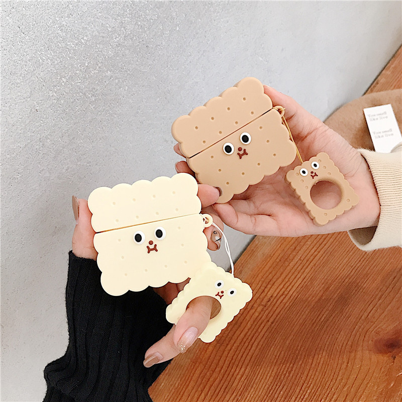 Vanilla and Chocolate Matching Biscuit Airpods Case