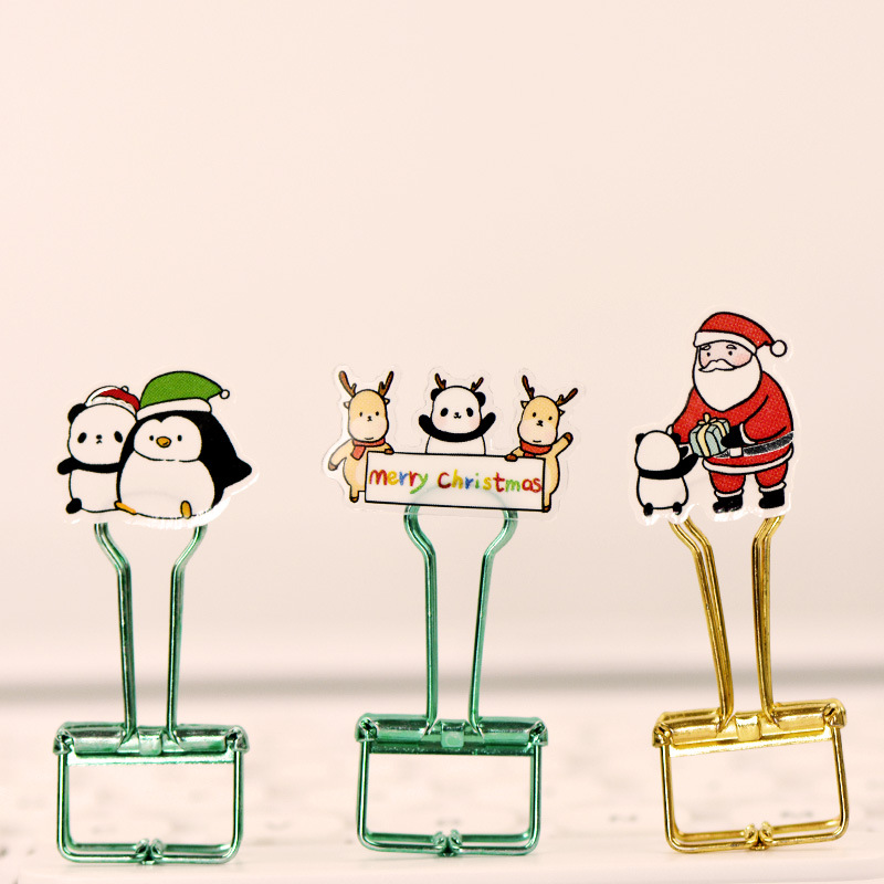 Colorful Holiday Series Cartoon Stickers for Do-it-Yourself Christmas Cards