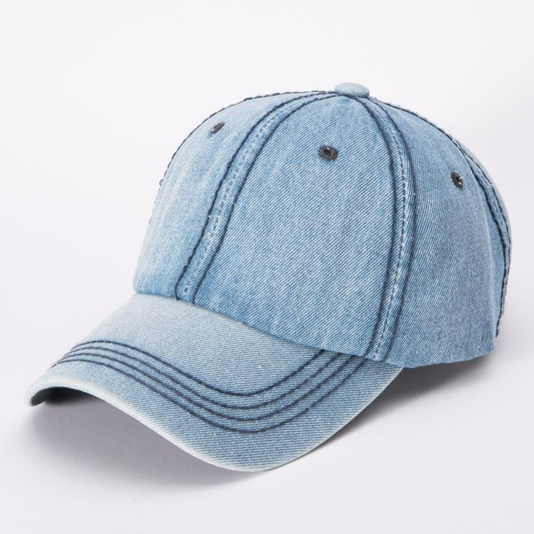 Distressed Blues Dad Hat for Laidback and Casual Ensembles