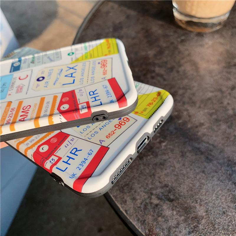 Airline Ticket Label iPhone Case