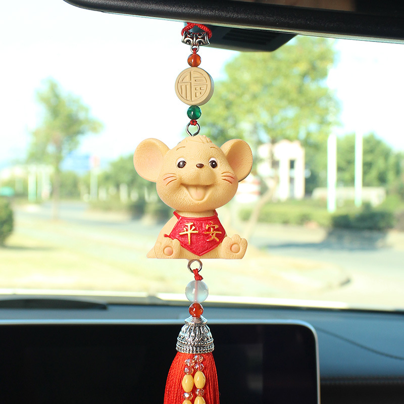 Adorable Mouse Car Pendant for Good Luck