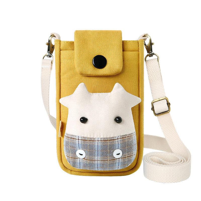 Plaid Cow Mobile Phone Bag