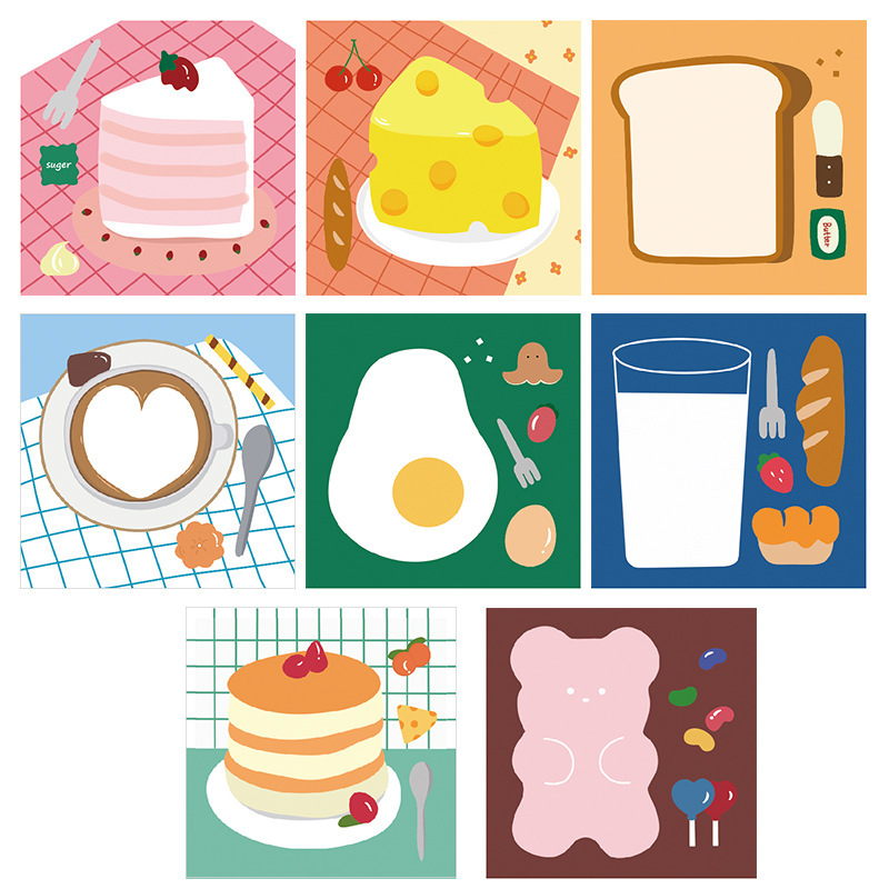 Foodie Square Sticky Notes