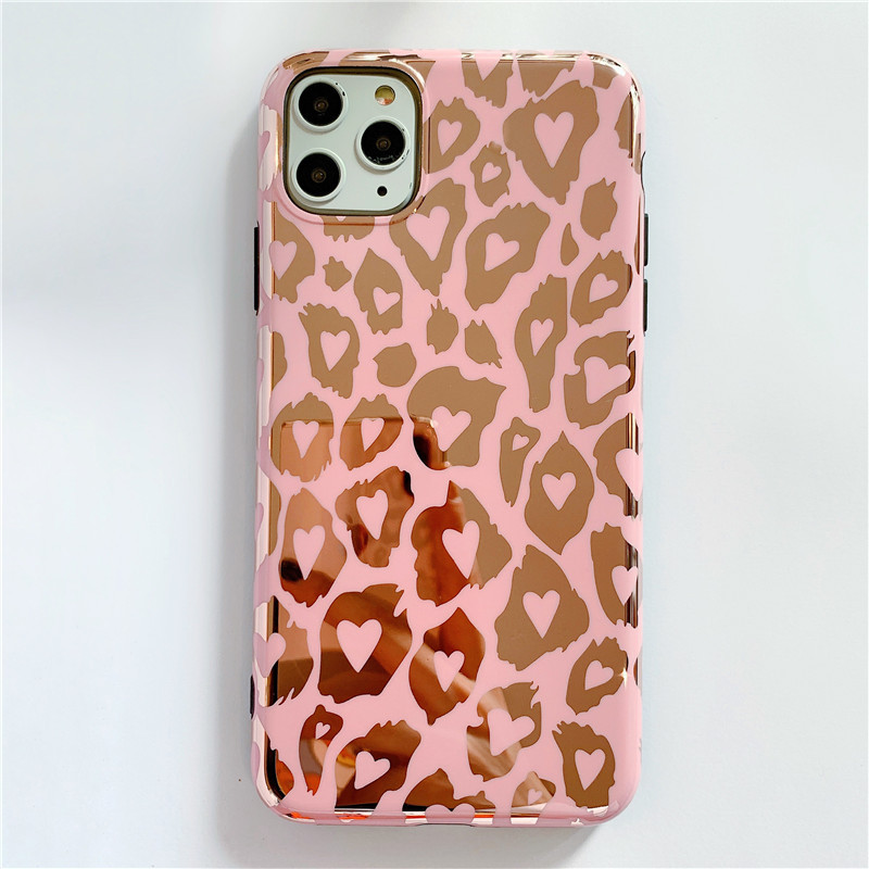 Pink Leopard Prints Mobile Case for iPhone
