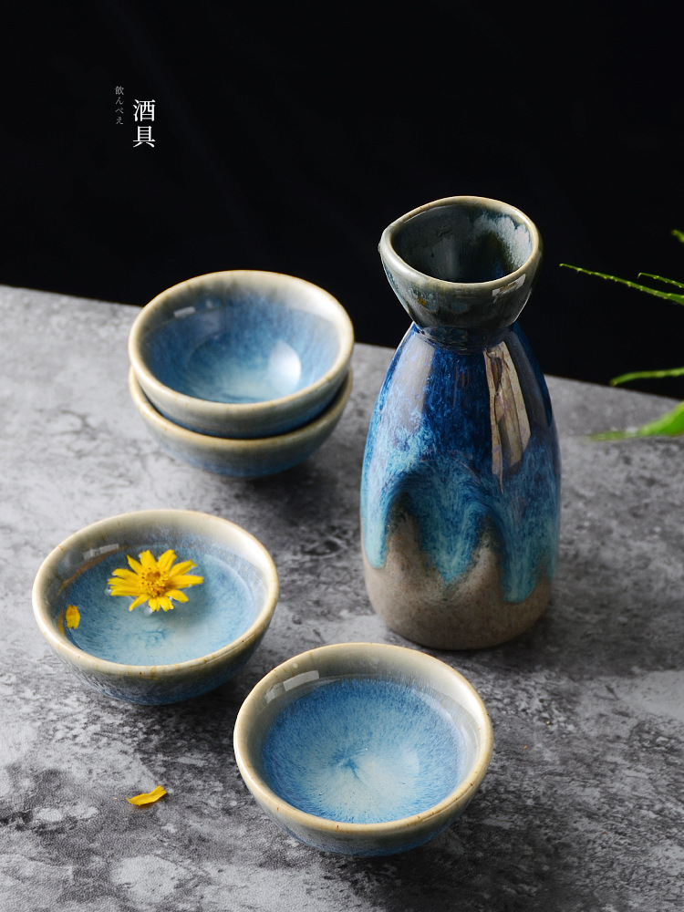 Captivating Blue Porcelain Jug and Cup for Japanese-Style Tea Parties