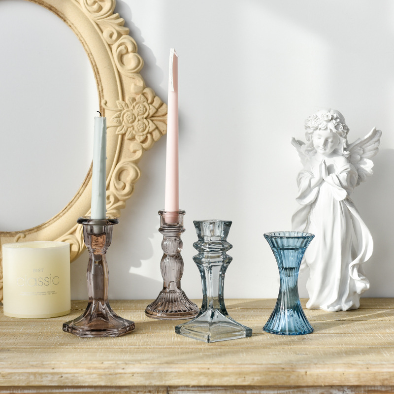 Artistic Glass Candle Holders for Table Setting