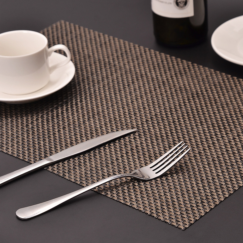Classic Woven PVC Placemats for Formal Dinners