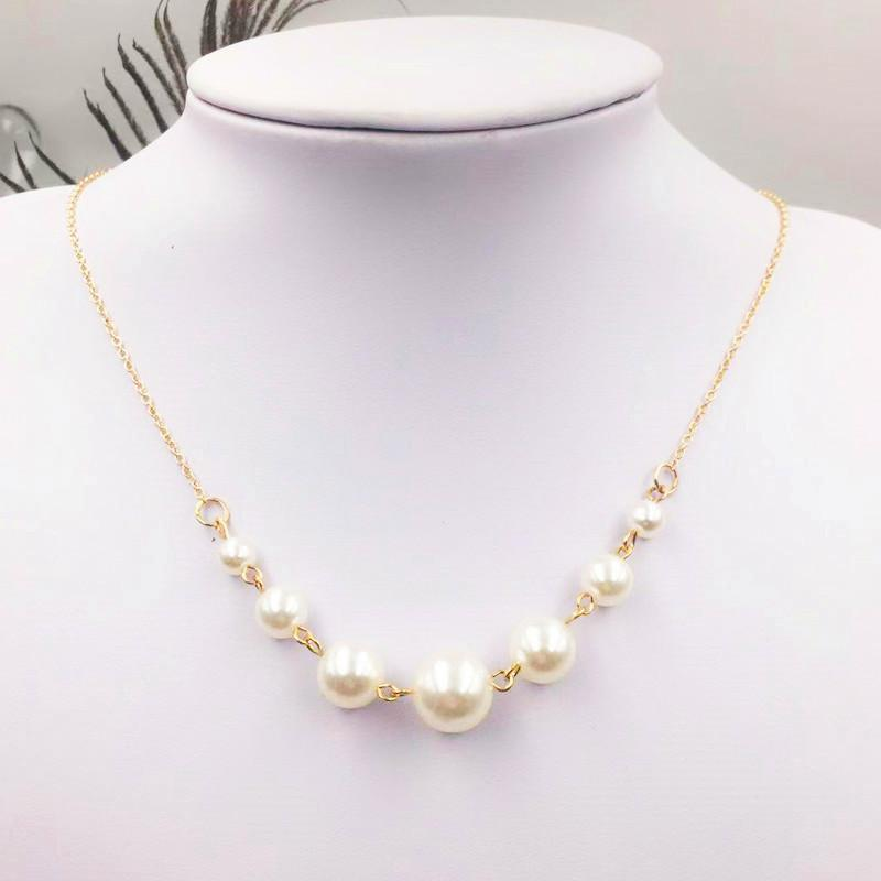 Classic Graduated Pearls Collar Necklace