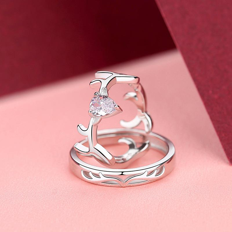 Fancy Antlers Couple Ring