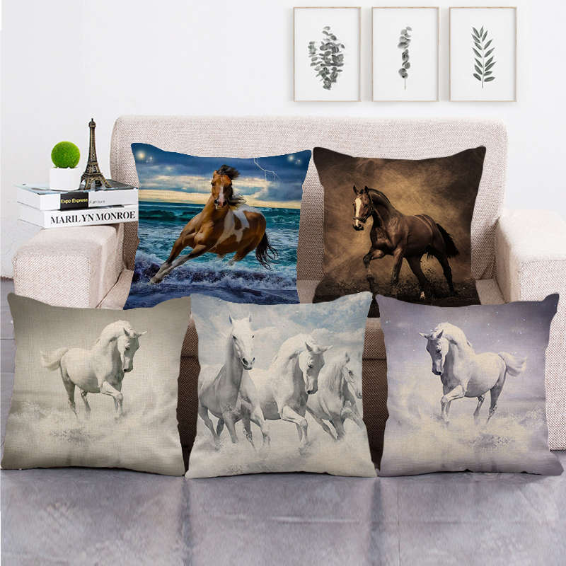 Mesmerizing Horse Series Patterned Pillow Case for Home Linens