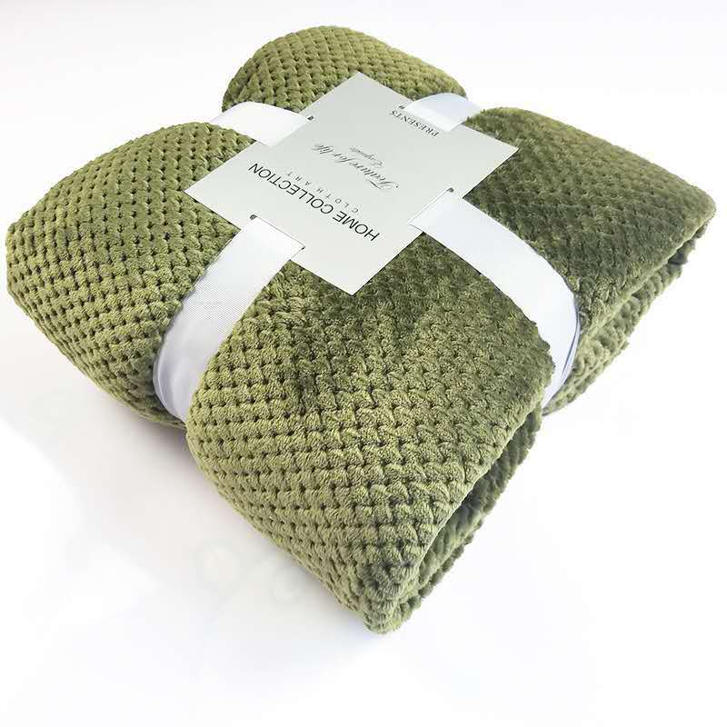 Textured Mini-Quilt Polyester Blankets for Restful Naps
