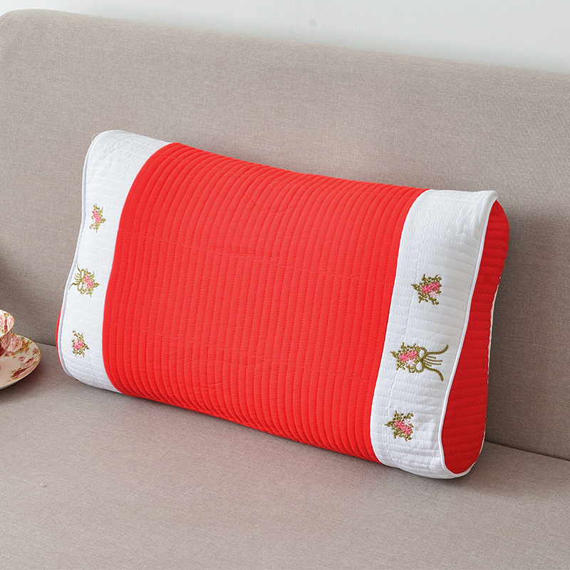 Floral Ribbed Bolster Pillow