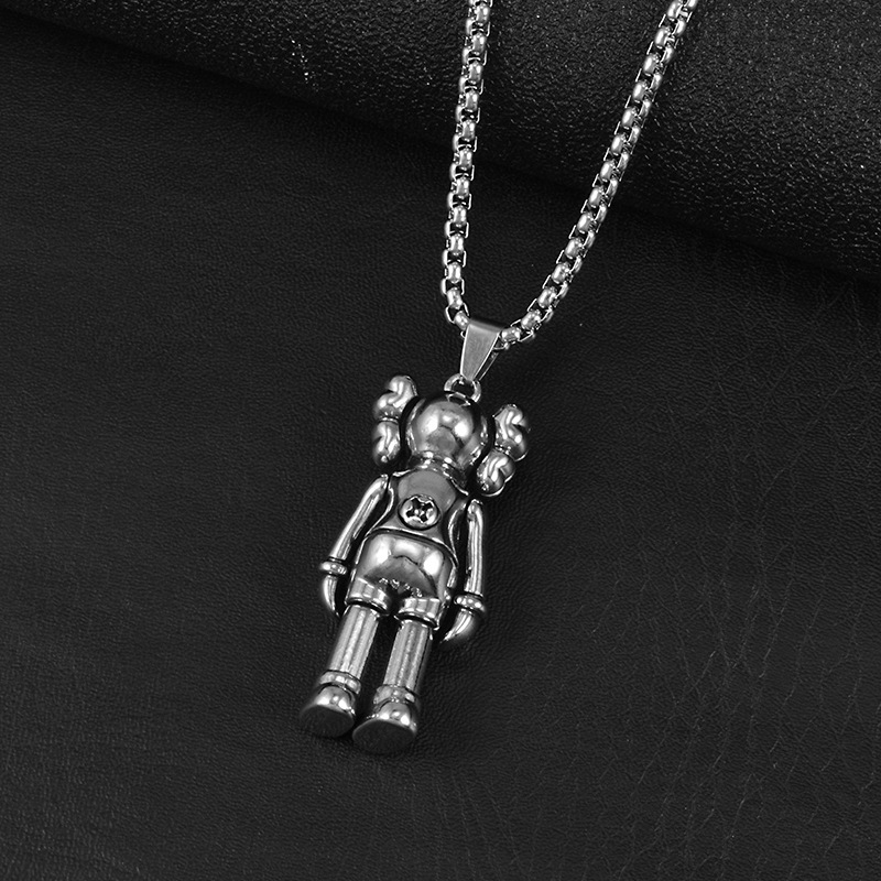 Titanium Steel Street Doll Necklace for Couple Wear