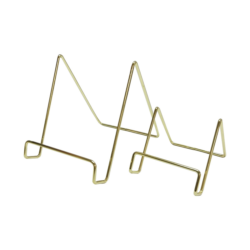 Elegant Geometric Metal Phone or Tablet Holder for Home and Office Use
