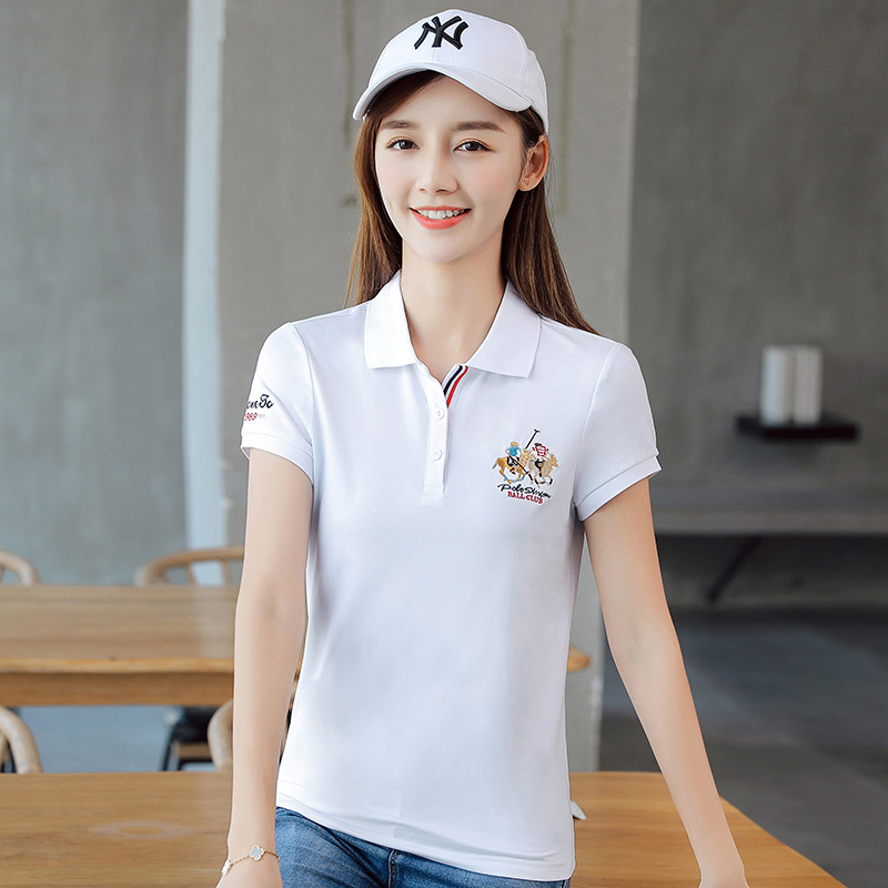 Slick Polo Shirt with Patch for Friends Get-Together