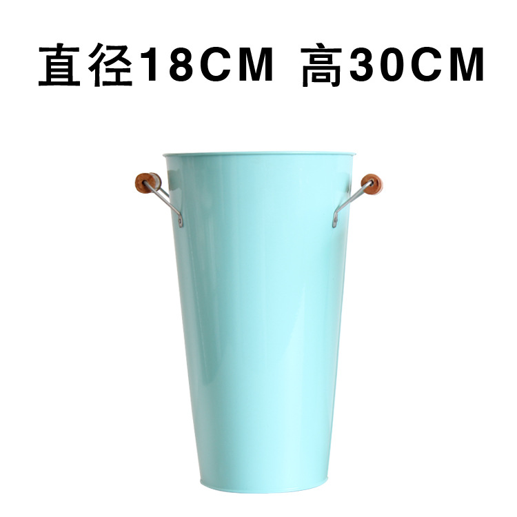 Plain Colored Flower Bucket for Holding Dried Flowers