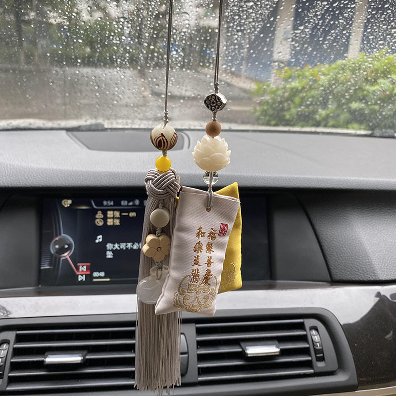 Colorful Hanging Tassel and Scent Mini Pouch for Car Interior Decor