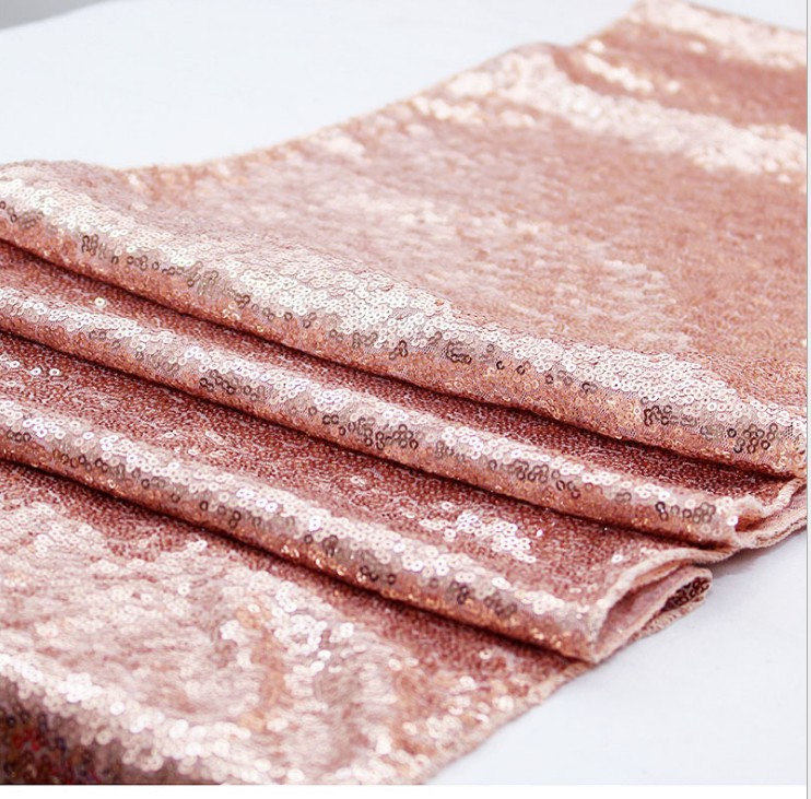 Sparkly Sequined Table Runner for Hosting Parties at Home