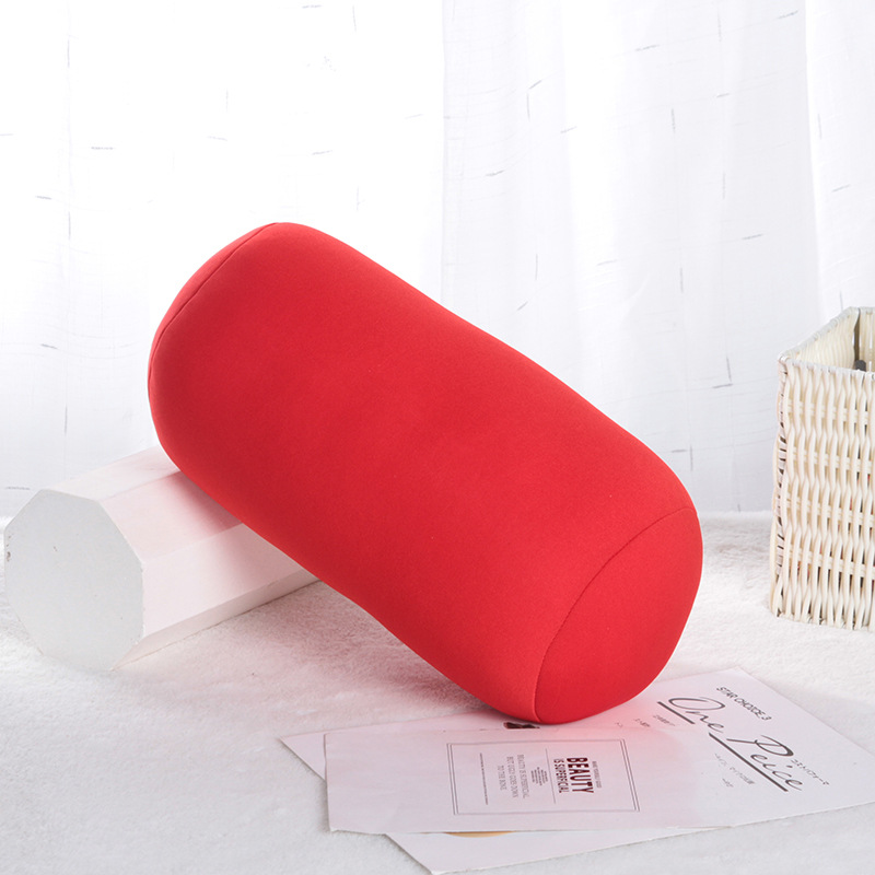 Solid Color Cylindrical Pillow for Office Naps