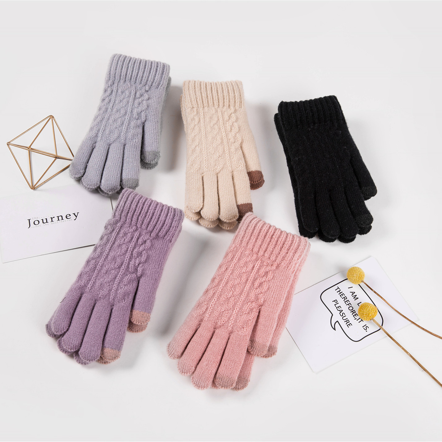 Gorgeously Soft Knitted Gloves for Cozy Winter Outfit