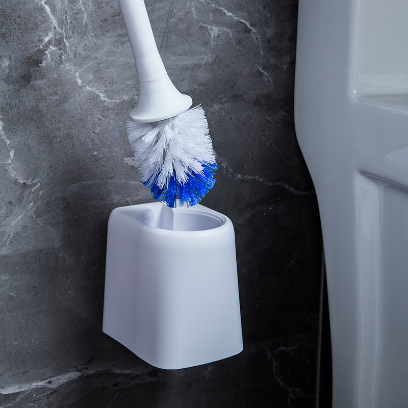 Blue and White Soft Bristle Toilet Brush for More Hygienic Toilets