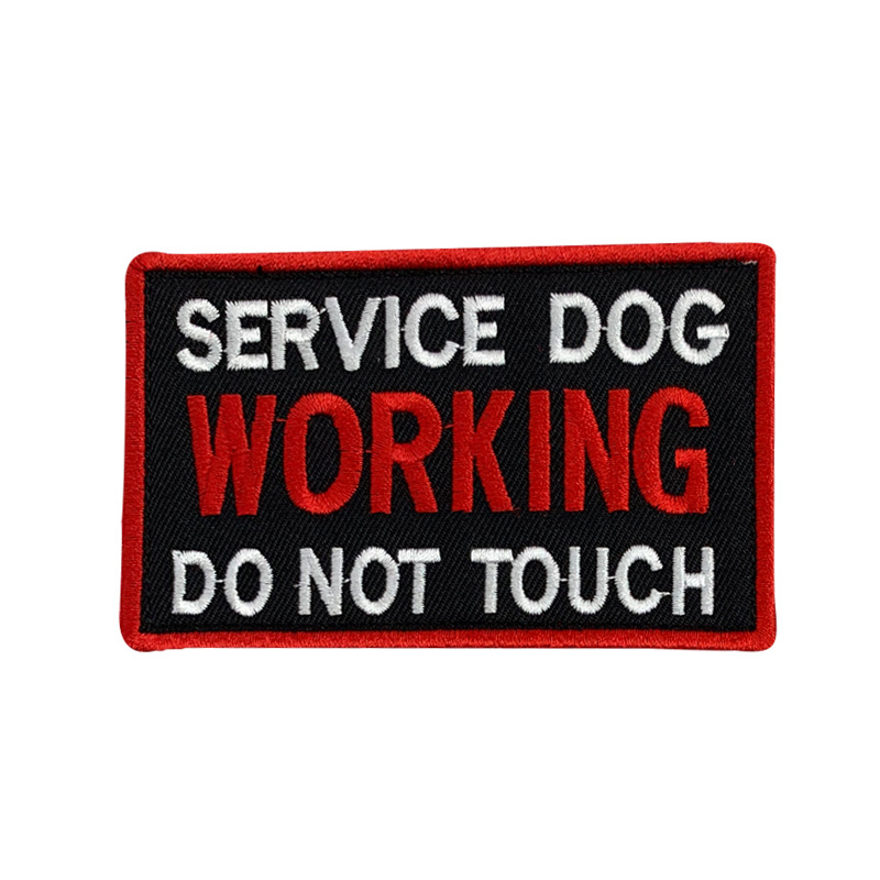 Embroidered Statement Patches for Service Dog Collars