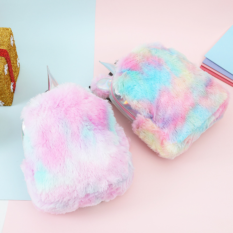 Soft Fluffy Mini Unicorn Backpack for Adorable Adults