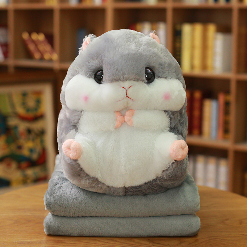 Adorable Hamster Plushie and Blanket Set for Kids Birthday Gift