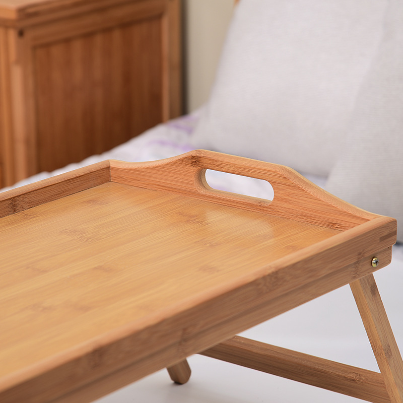 Small Foldable  Multifunctional Bed Tray for Serving Breakfast