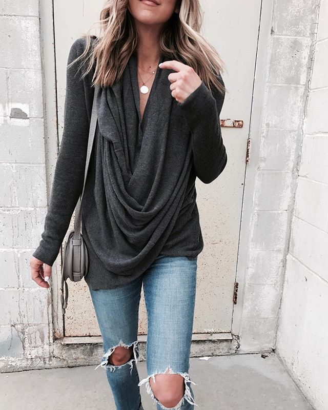 Soft Feels and Lazy Long Sleeve T-shirt for Cold Season Wear