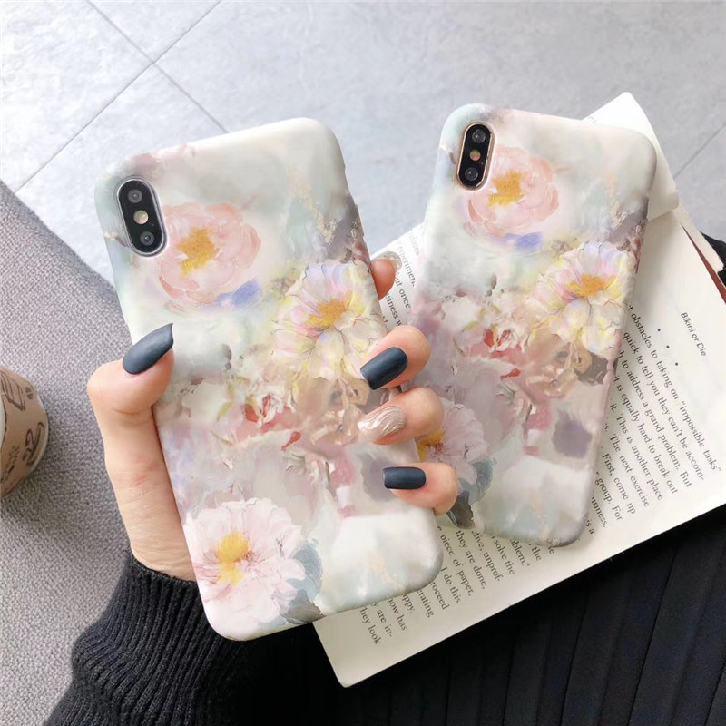 Romantic Painted Flowers Phone Case