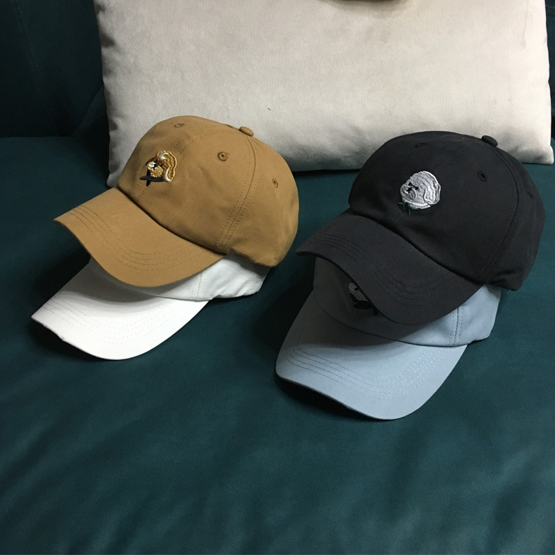 Funny Embroidered Angry Dog Baseball Cap for Quirky Outfits
