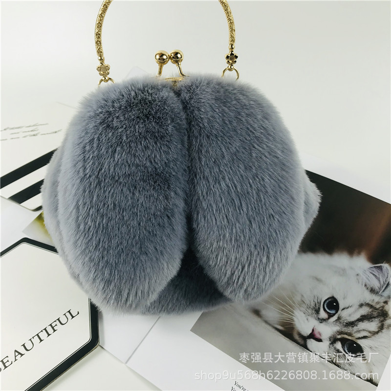 Fascinating Plush Faux Rabbit Theme Bag for Cute Outfits