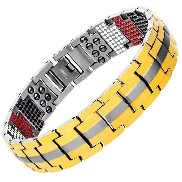 Two-Toned Alloy Bracelet for Everyday Wear