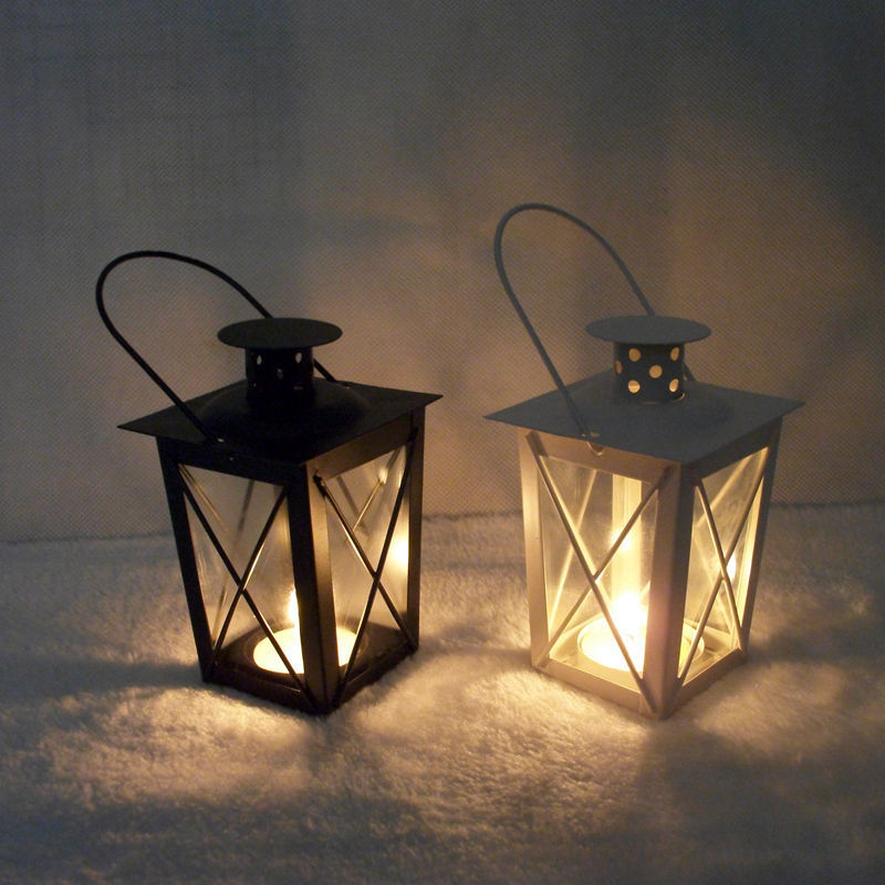 Handy Iron Lantern-Shaped Candle Holder for Grand Displays
