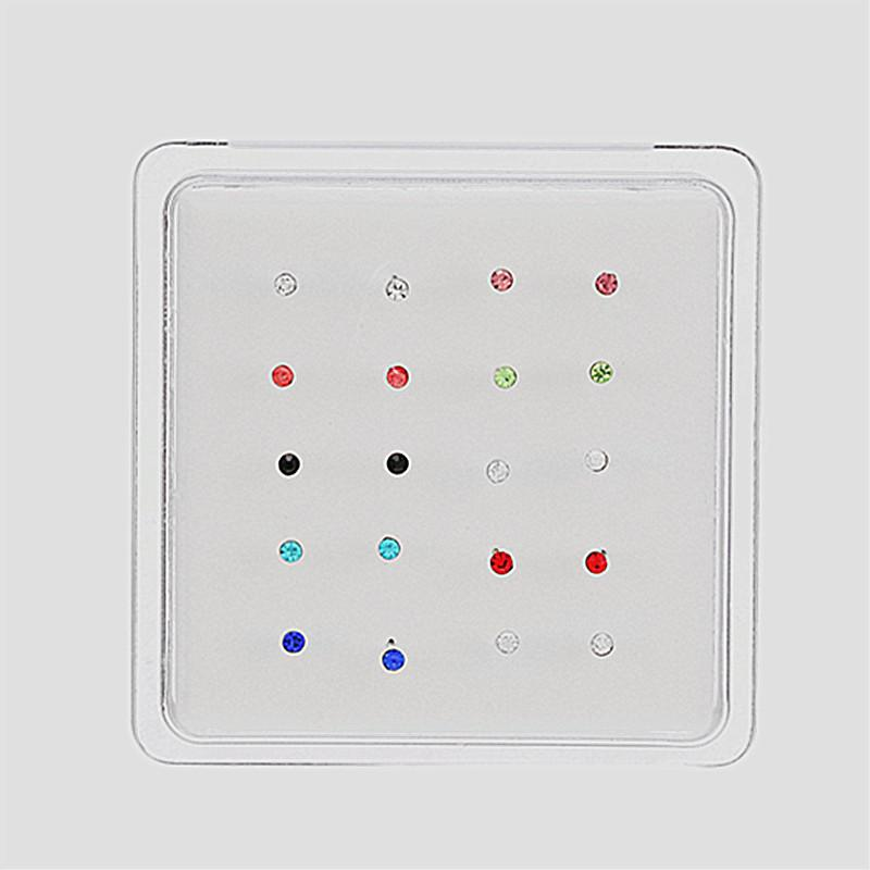 Mini Round Crystals Nose Stud for Exquisite Outfit