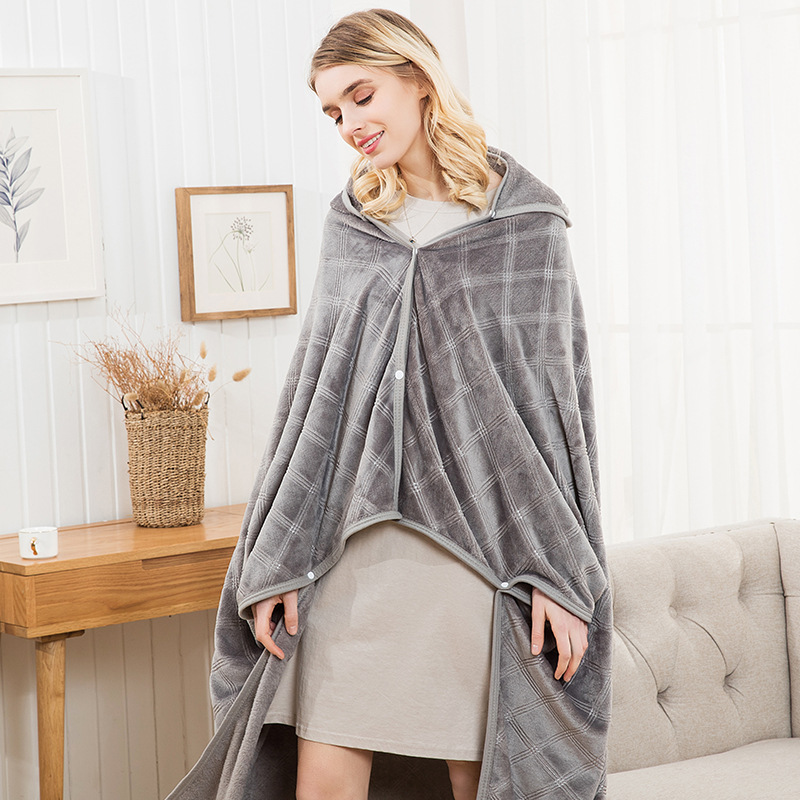 Comfortable Wearable Blanket for Cozy Nights at Home