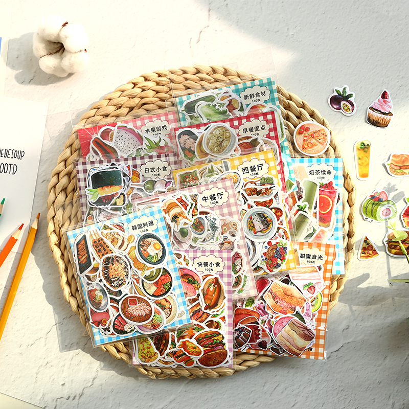 Creative Food Decorative Sticker for DIY Arts and Crafts