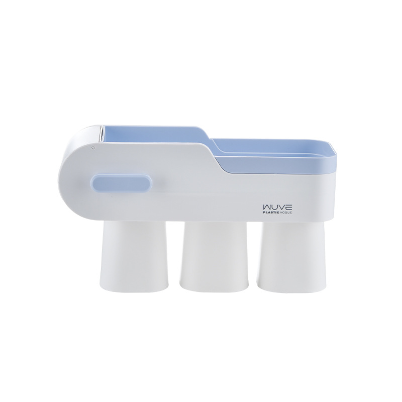 Multi-Functional Wall mounted Toothbrush Rack For Bathroom Compartment