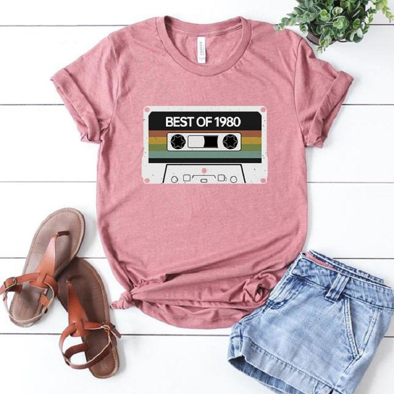 Engaging Round Neckline Short-Sleeved T-Shirt with Print for Morning Walks