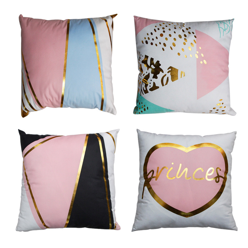 Pink Geometric Abstract Pillowcase for Pillows