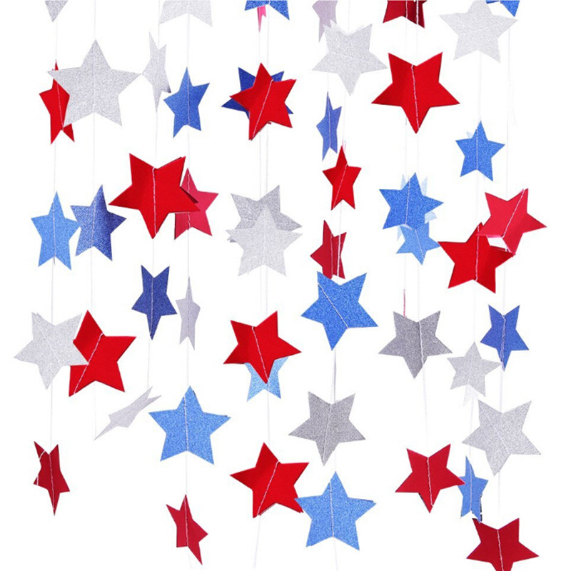 Tri-Tone Star Garlands for Fourth of July Celebrations