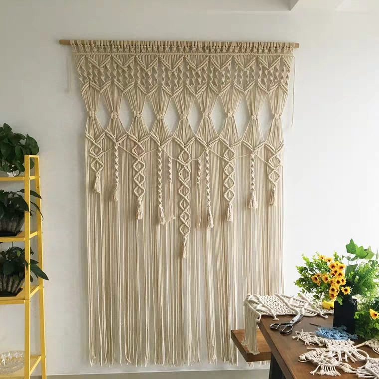 Decorative Macramé Wall Tapestry for Bohemian Style Homes