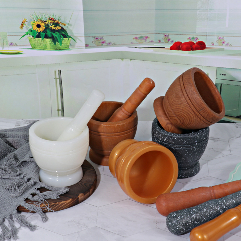 Classic Mortal and Pestle Set for Crushing Cooking Ingredients