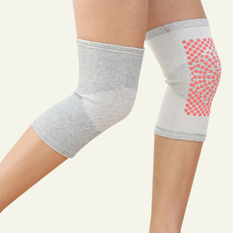 Self-Heating Stretchable Knee Pads for Home and Outdoor Use
