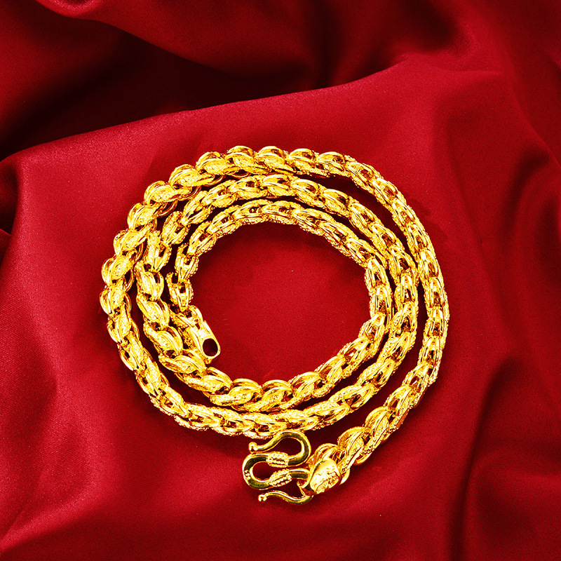 Thick Gold-Plated Rope Chain Necklace for Fancy Outfits