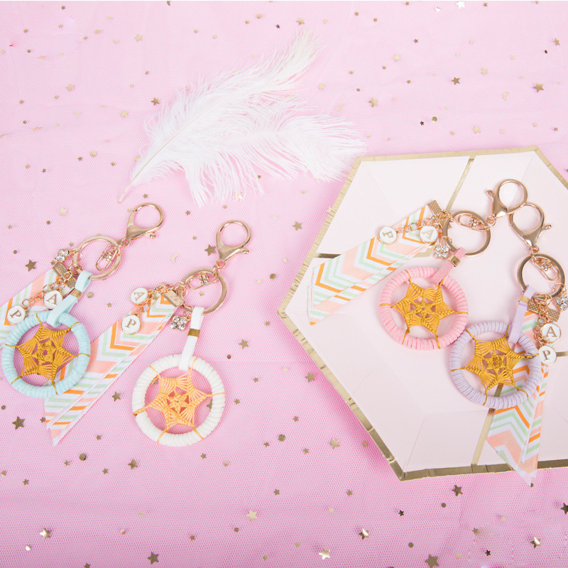 Posh Dreamcatcher Keychain for Styling Your Backpacks